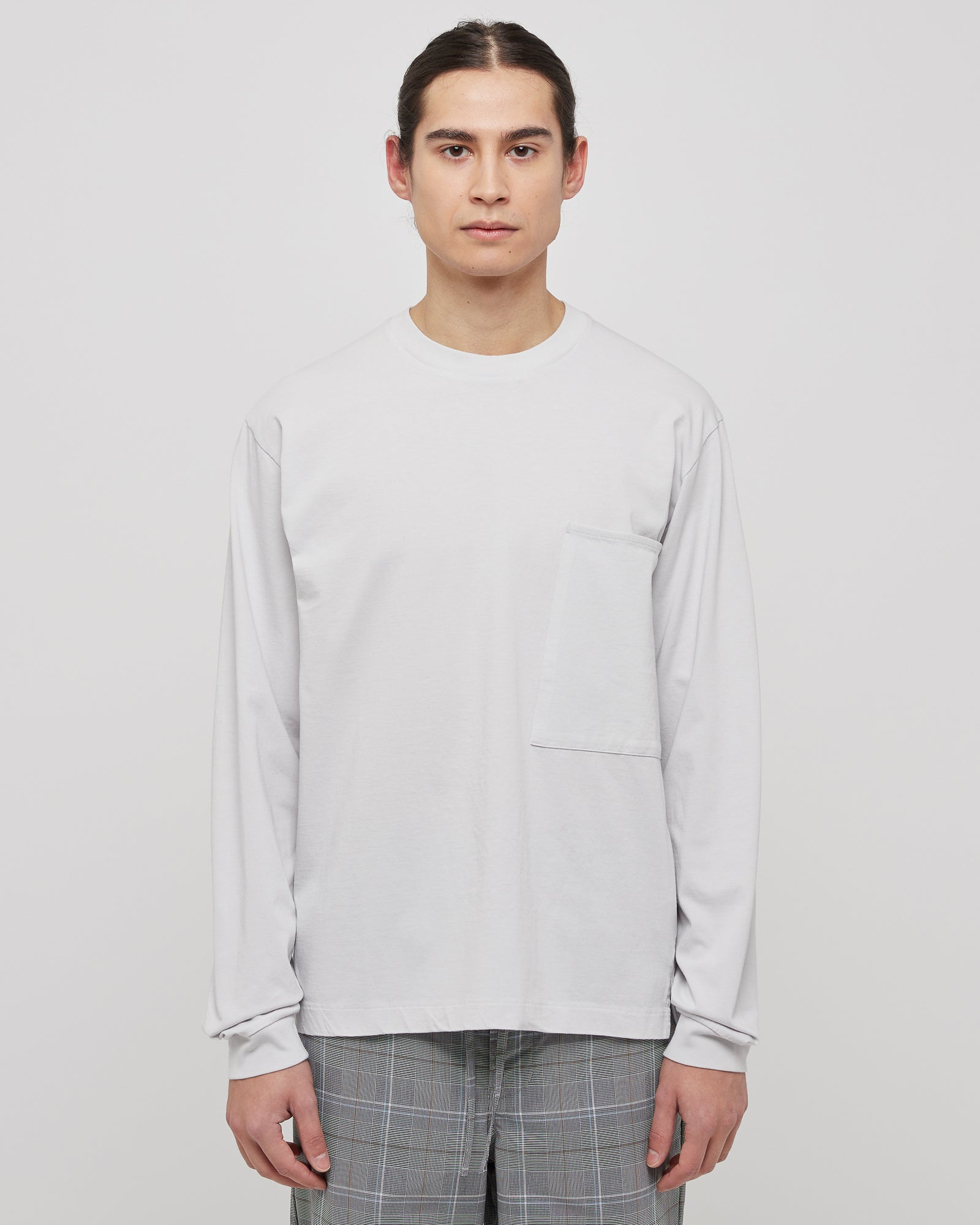 L/S Large Pocket Shirt in Light Gray