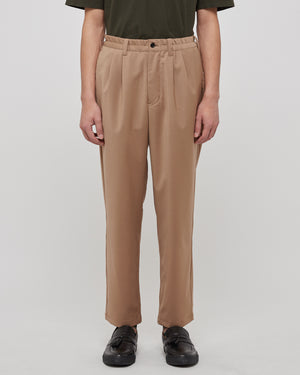 Regular Tapered Pants in Beige