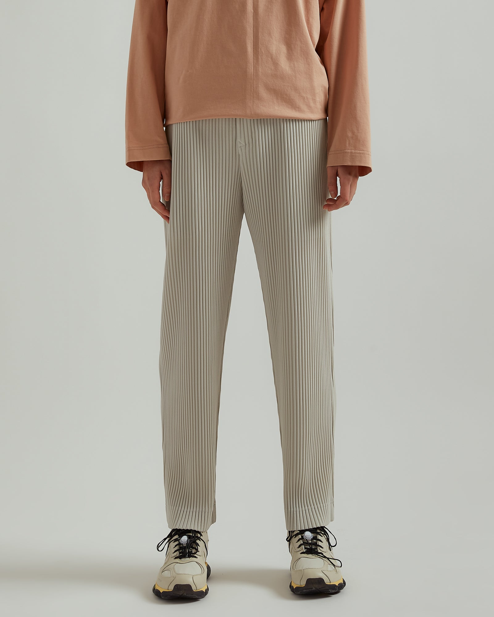 Straight Leg Trousers in Crème