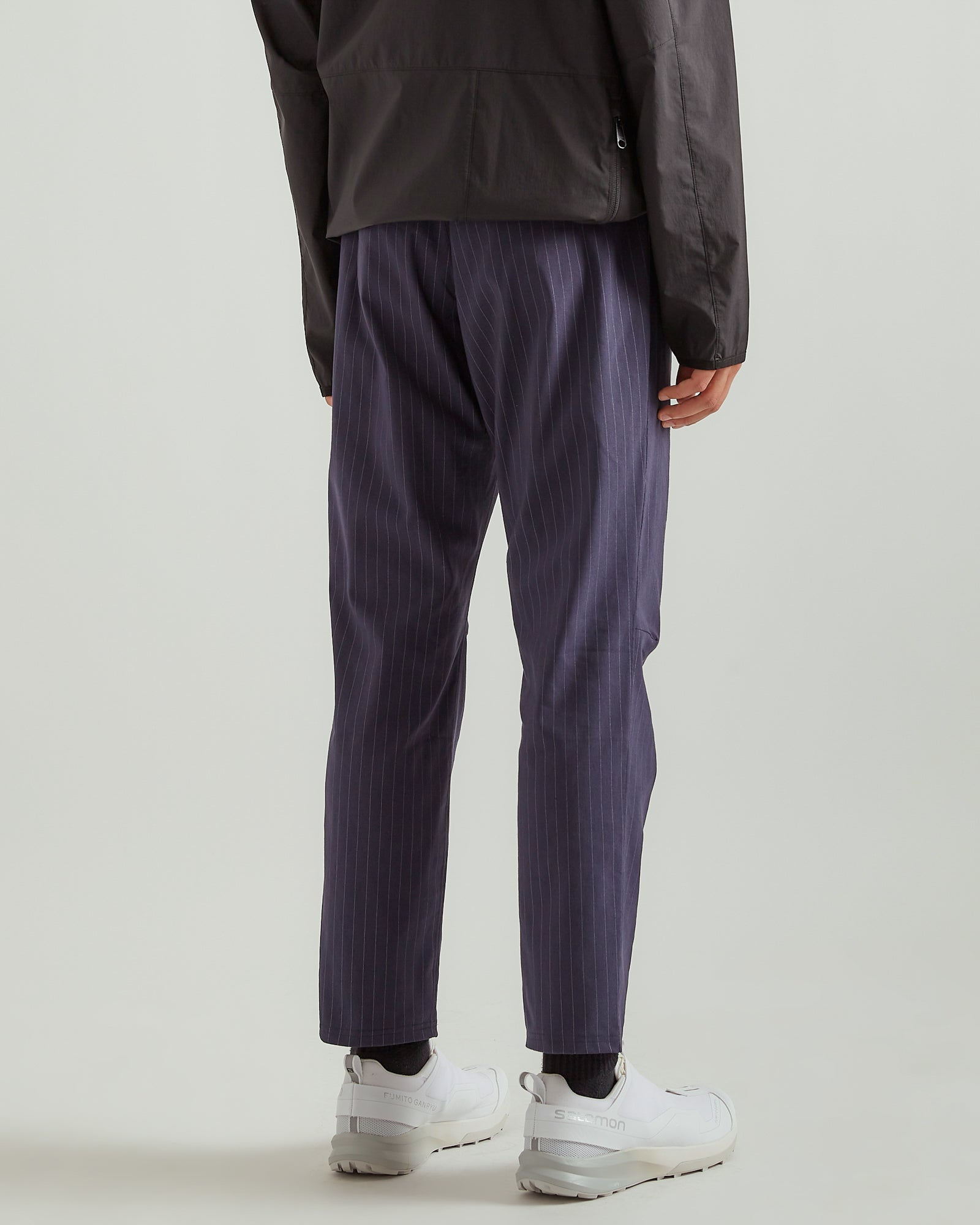Stripe Cloth Cycle Pant in Navy