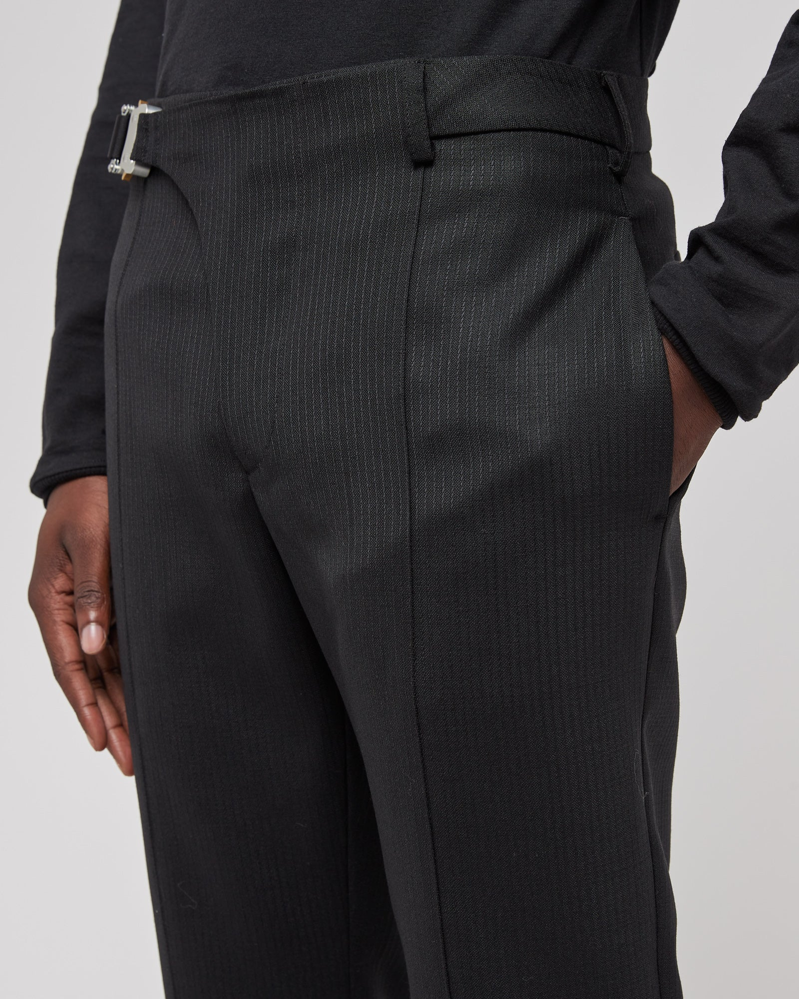 Strirrup Suit Pant in Black