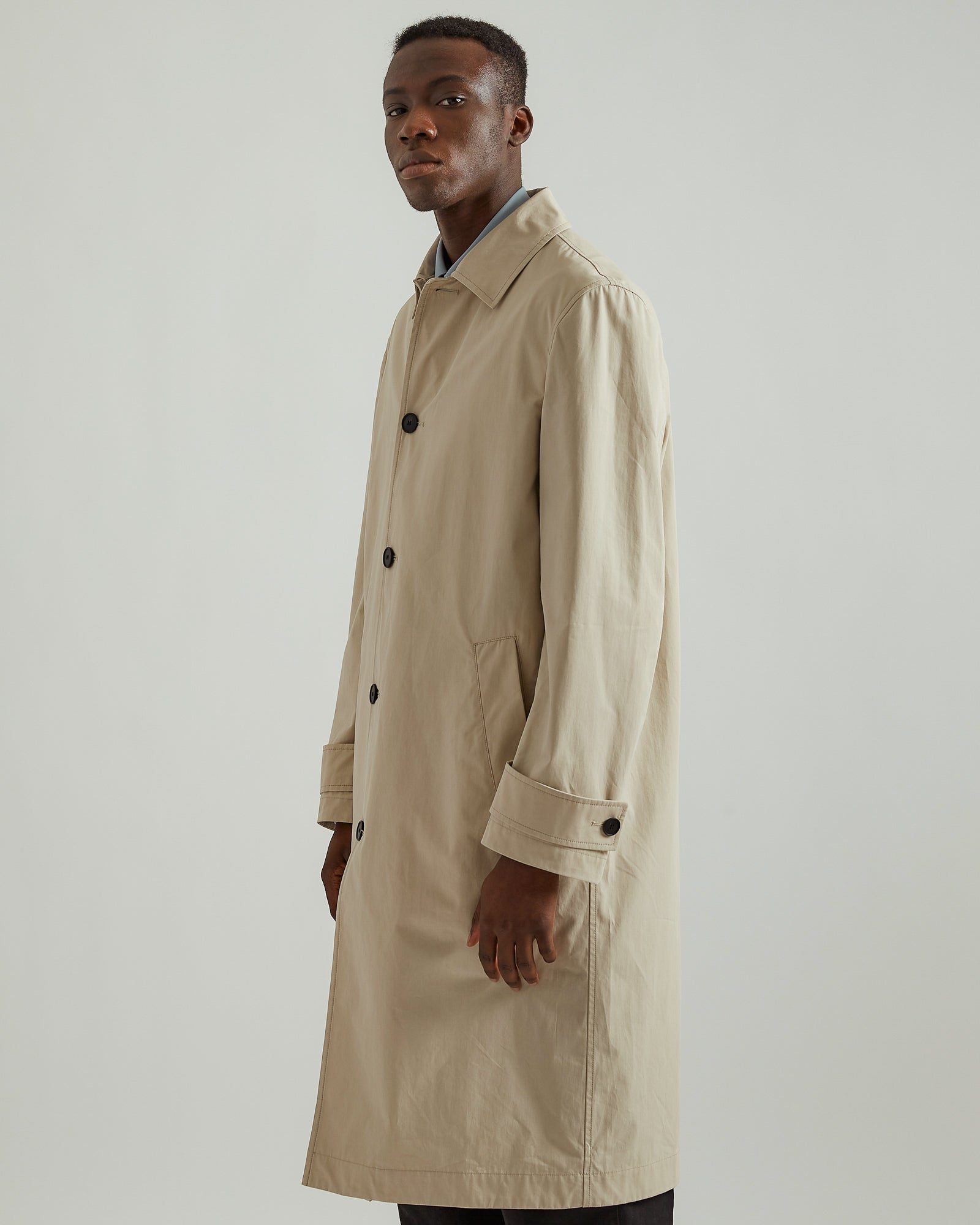 Studio Overcoat in Light Sand
