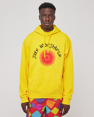 Sun Worshipper Pullover Hoodie in Gold