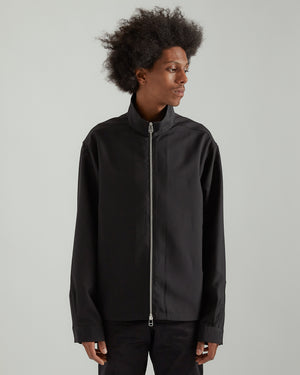 System Full Zip Shirt in Black