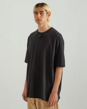 T-Shirt With Tape in Black