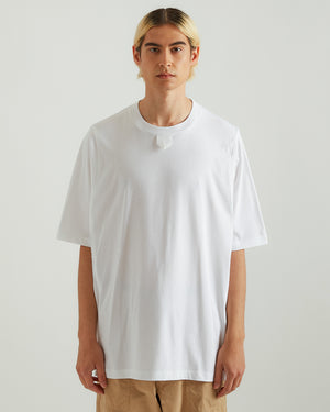 T-Shirt With Tape in White
