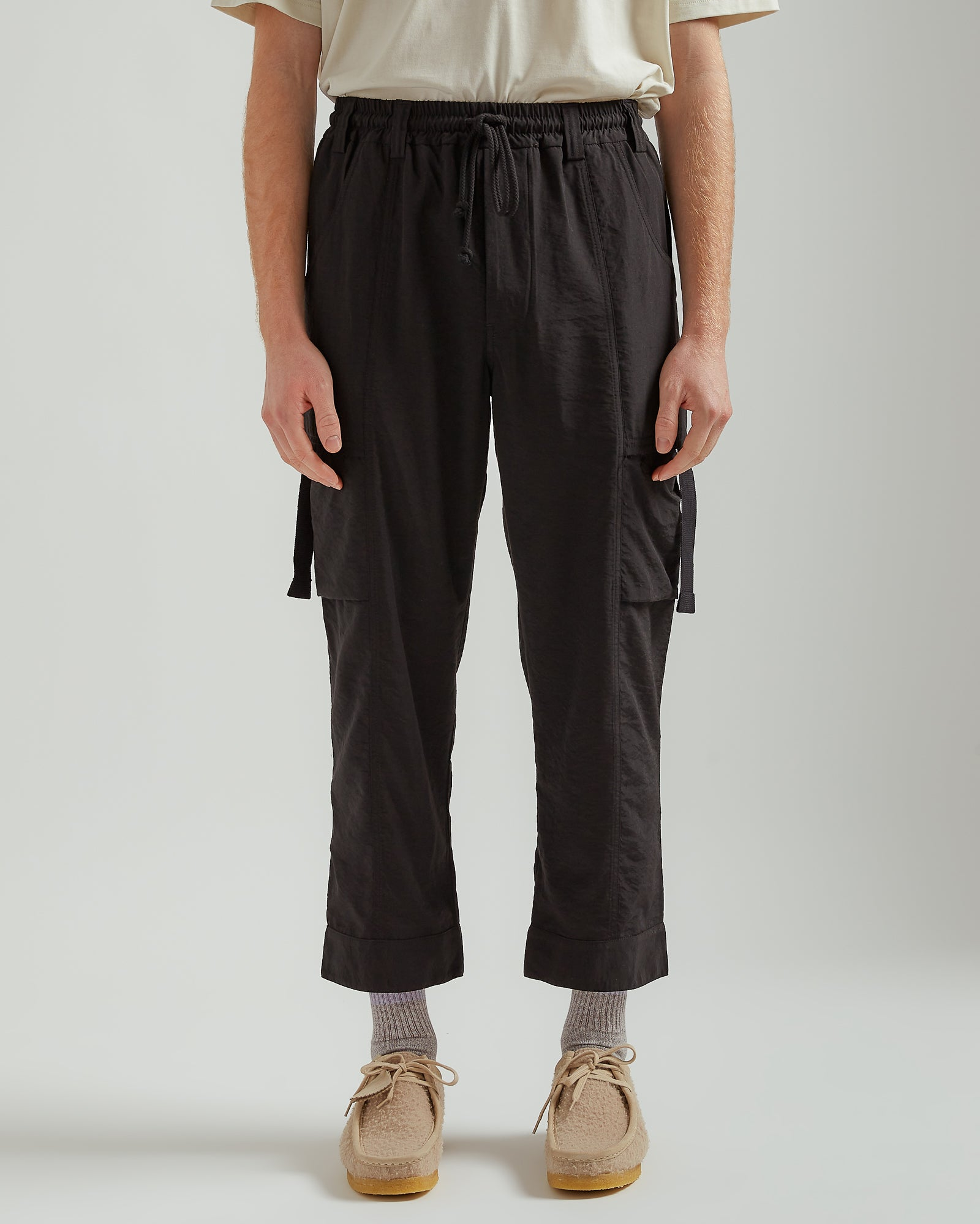 Tabbed Cargo Pant in Black