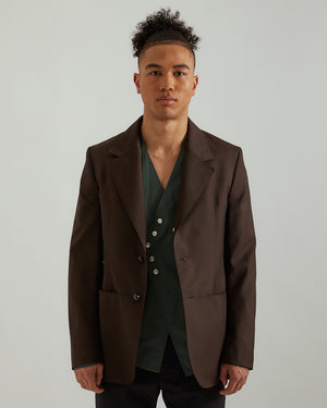 Tailored Jacket in Memorial Brown