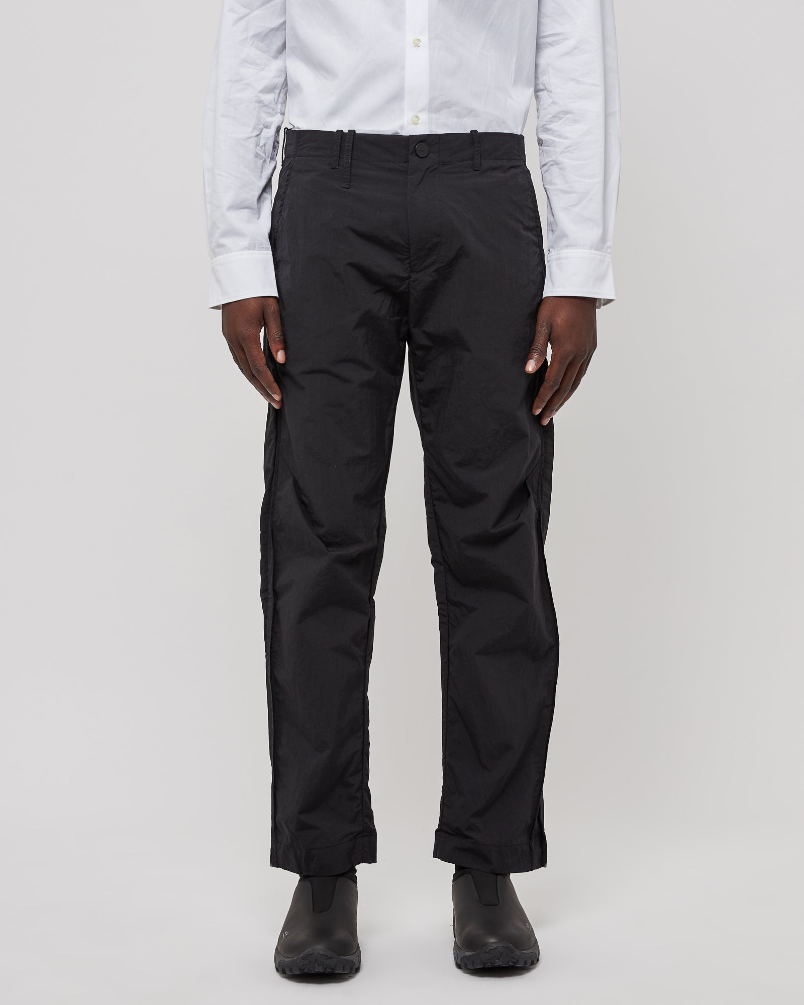 Tailored Nylon Trouser in Black