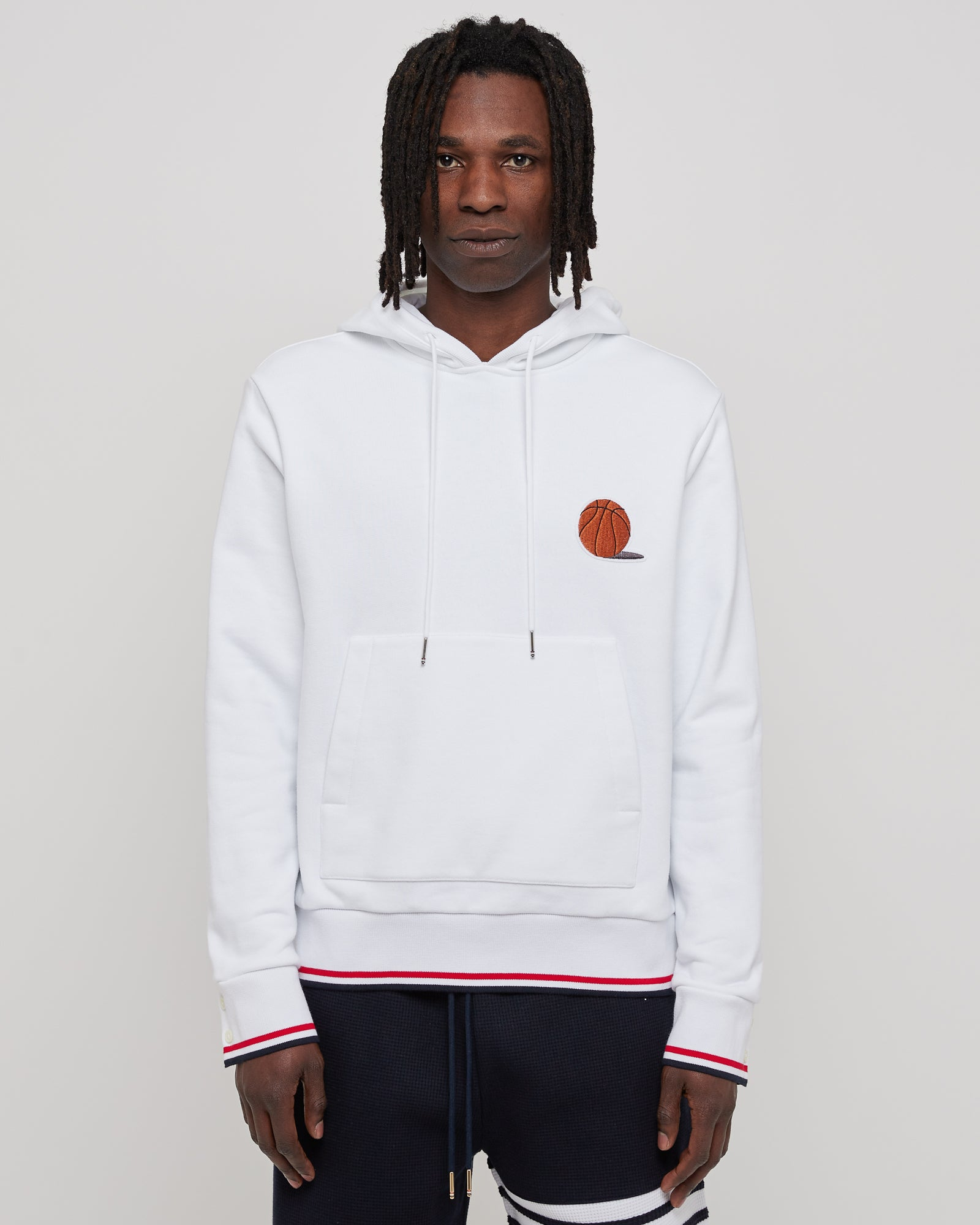 Basketball Icon Hoodie in White