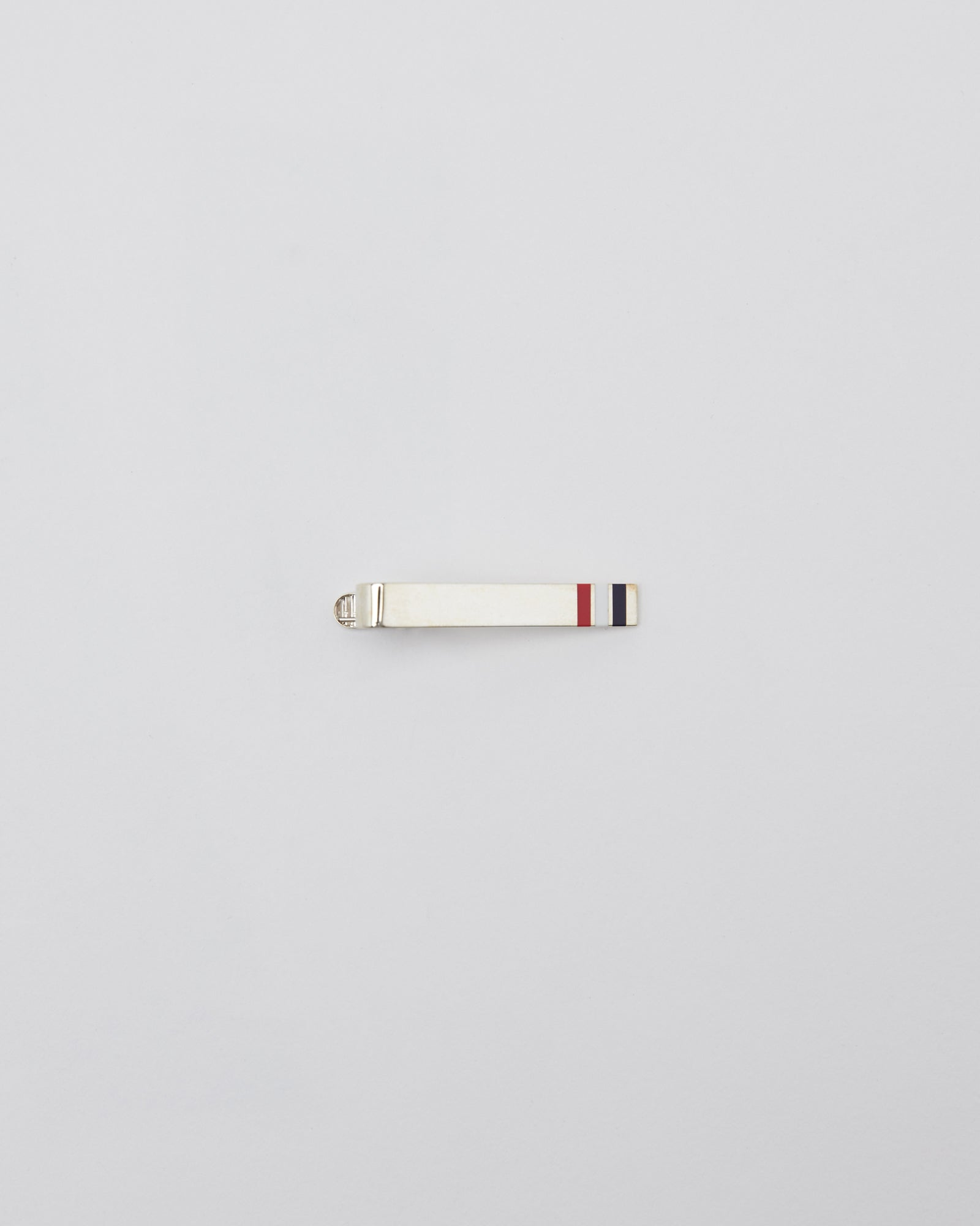 Vertical Long Tie Bar in Sterling Silver