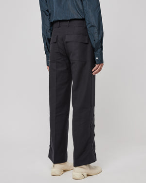 Thorwald ZigZag Trousers in Black