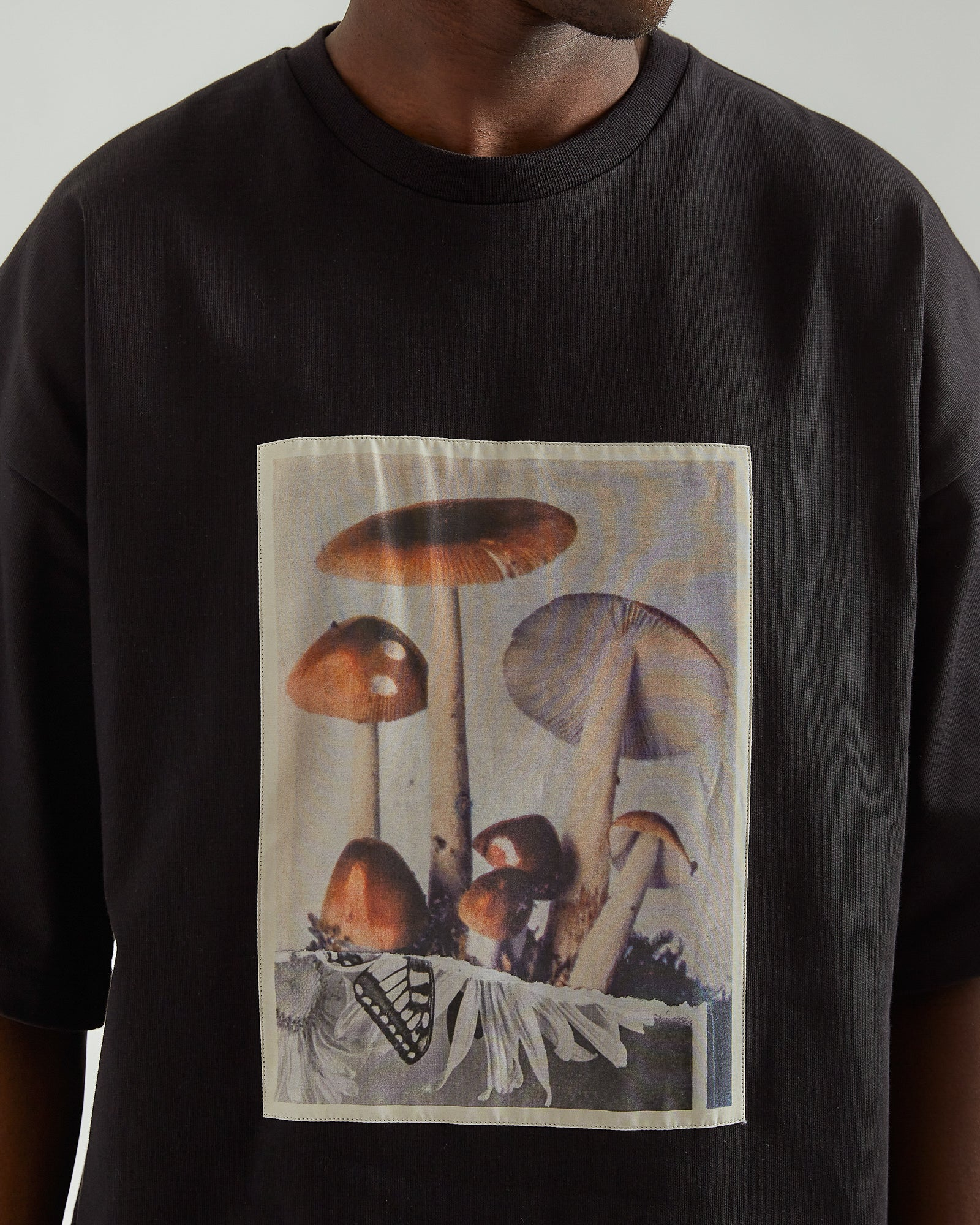 Toadstools T-Shirt in Black