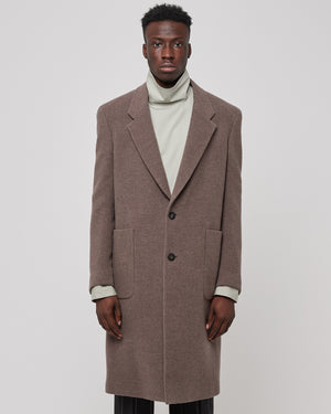 Two Button Single Breasted Coat in Brown