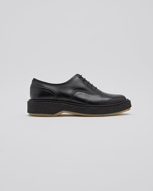 Type 137 Derby Shoe in Black/Crepe