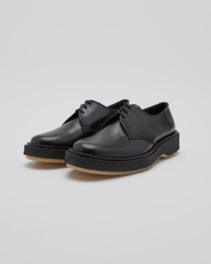 Type 145 Derby Shoe in Black/Crepe