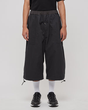 Ultra Wide Cropped Pants in Black