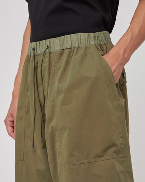 Ultra Wide Cropped Pants in Khaki