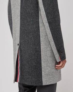 Unconstructed Bal Collar Jacket in Shetland Gray Mix
