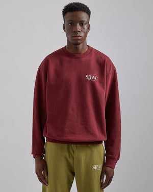 Upper East Side Crewneck in Merlot