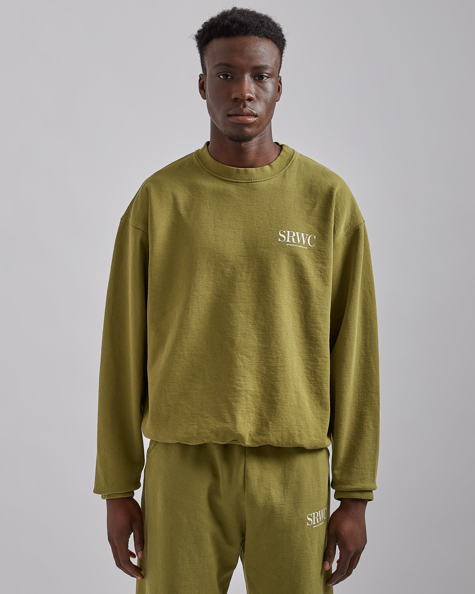 Upper East Side Crewneck in Olive