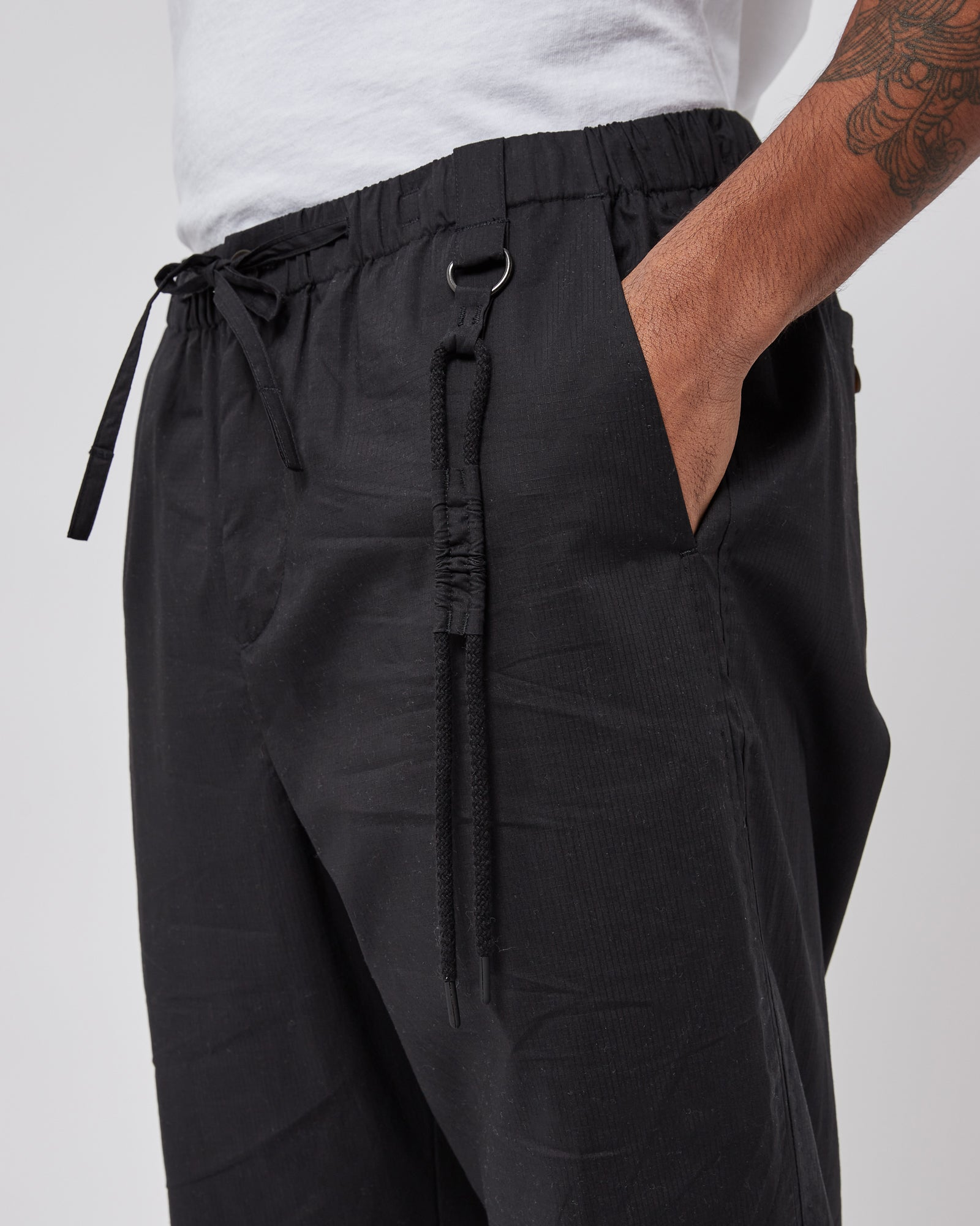 Utility Track Pants in Black