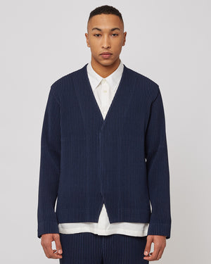 V-Neck Jacket in Navy
