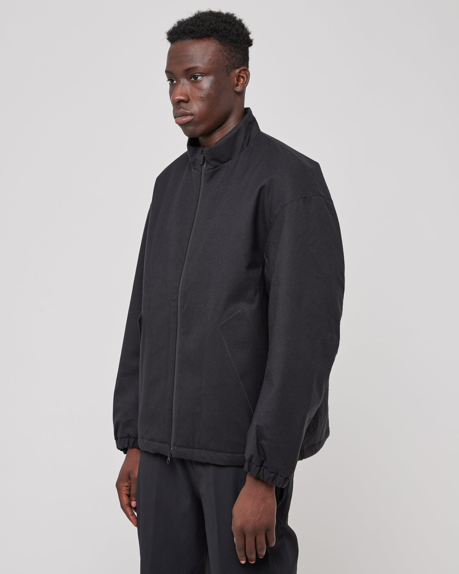Insulated Coach Jacket in Black