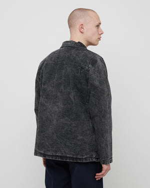 Lined Chore Coat in Black
