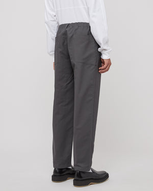 Cloth Tapered Pants in Slate Gray
