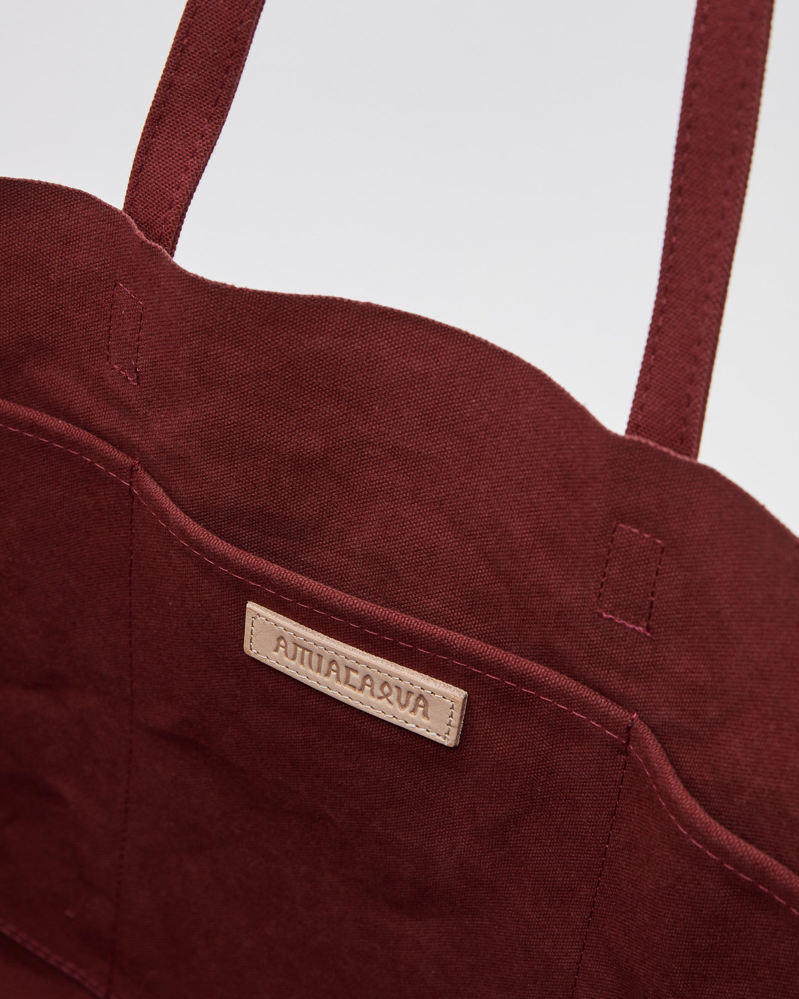 Washed Canvas 6P Tote in Burgundy (M)
