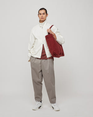 Washed Canvas 6P Tote in Burgundy
