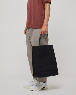 Washed Canvas Paper Bag in Black