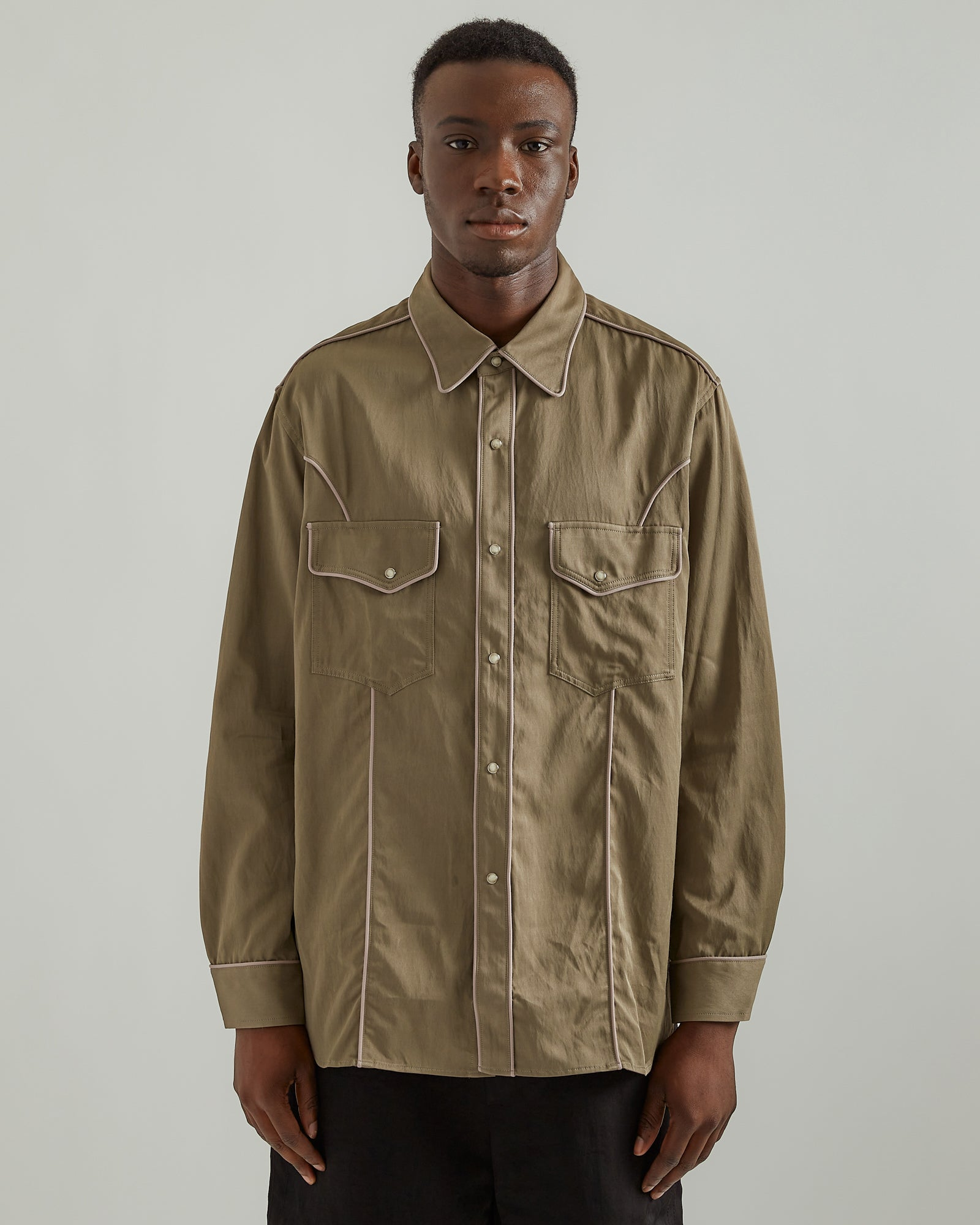 Western Shirt in Khaki
