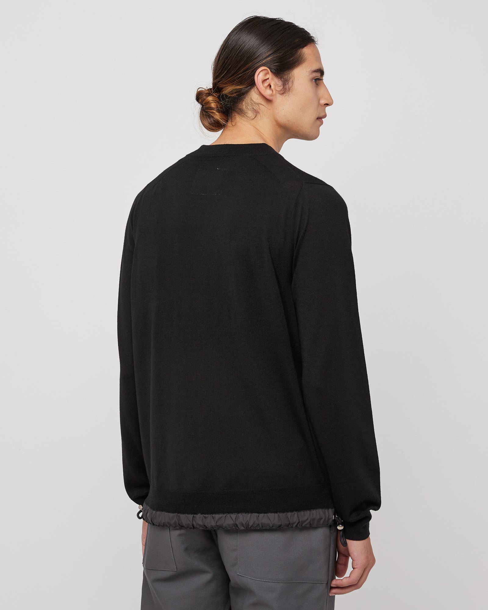 Wool Pullover in Black