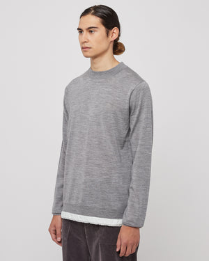 Wool Pullover in Gray