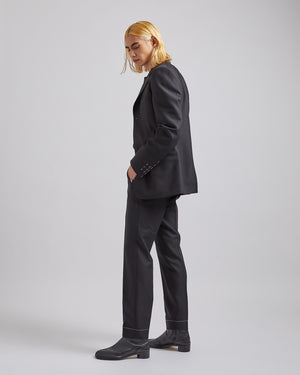 Wool Suit in Black