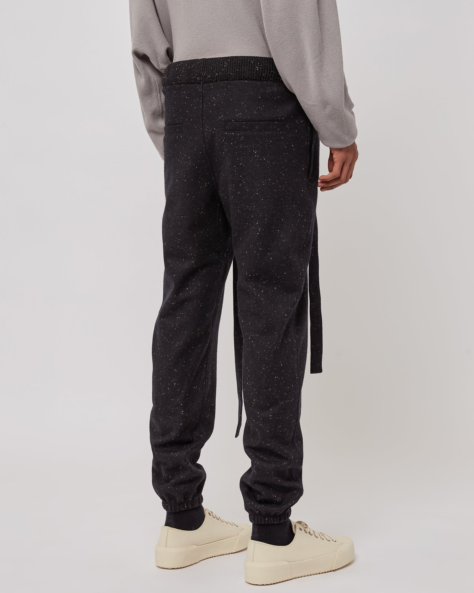 Wool Trackpants in Black