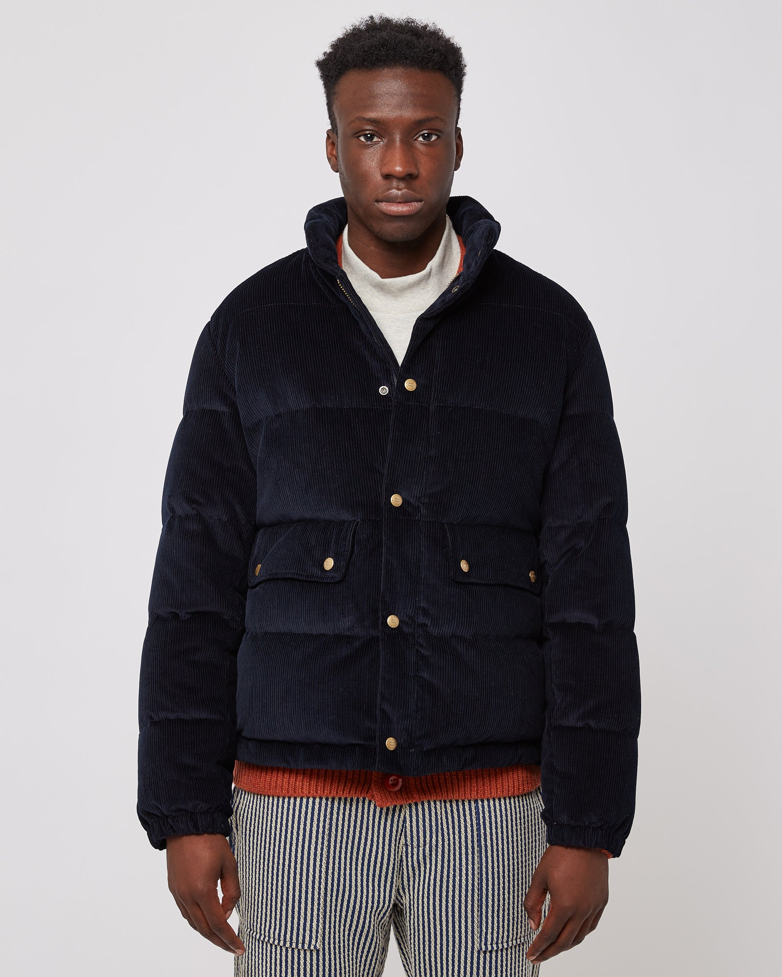 Woolrich Corduroy Puffer in Sky Captain