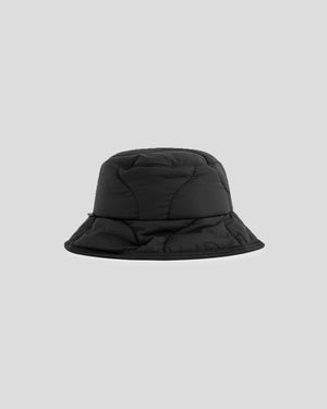 Woolrich Quilted Bucket Hat in Black