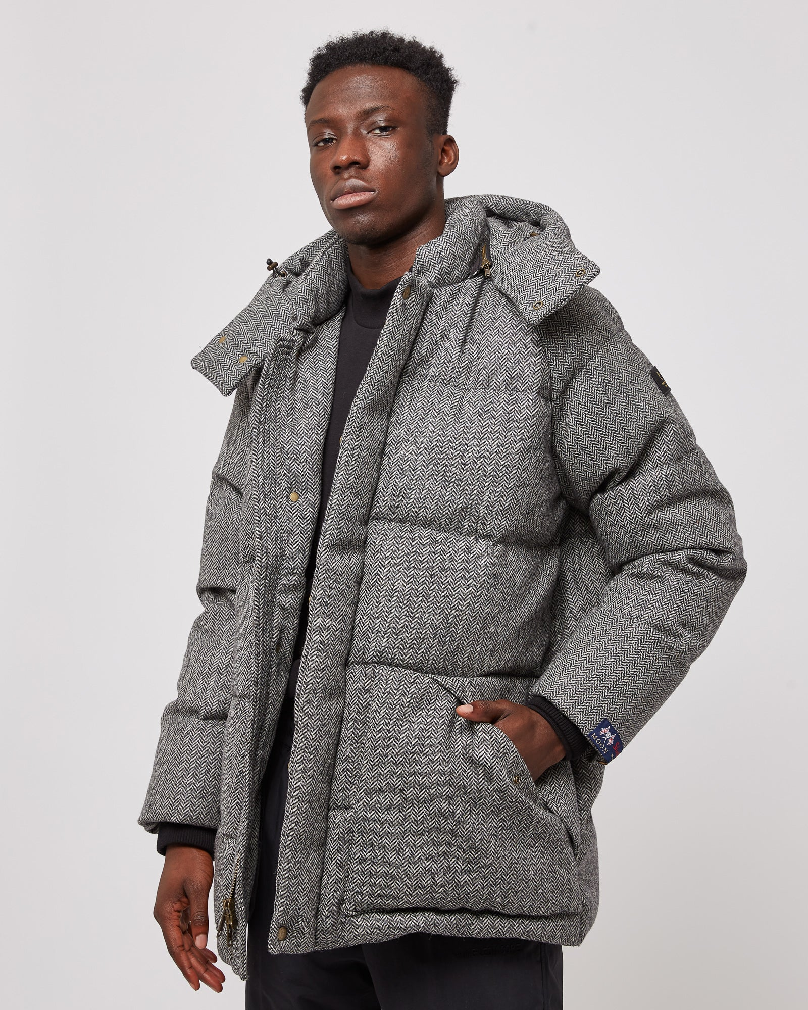 Woolrich Wool Puffer in Herringbone