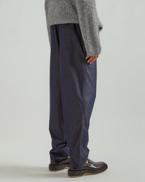 Woven Pants in Navy Blue
