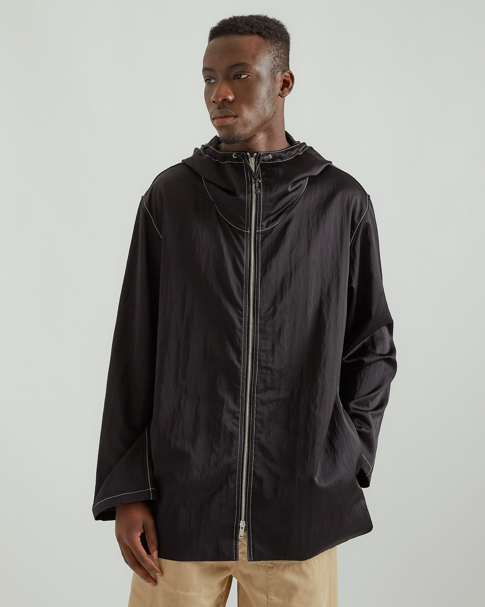 Wrinkle Blouson in Black