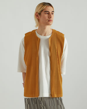 Zip-Up Vest in Light Orange