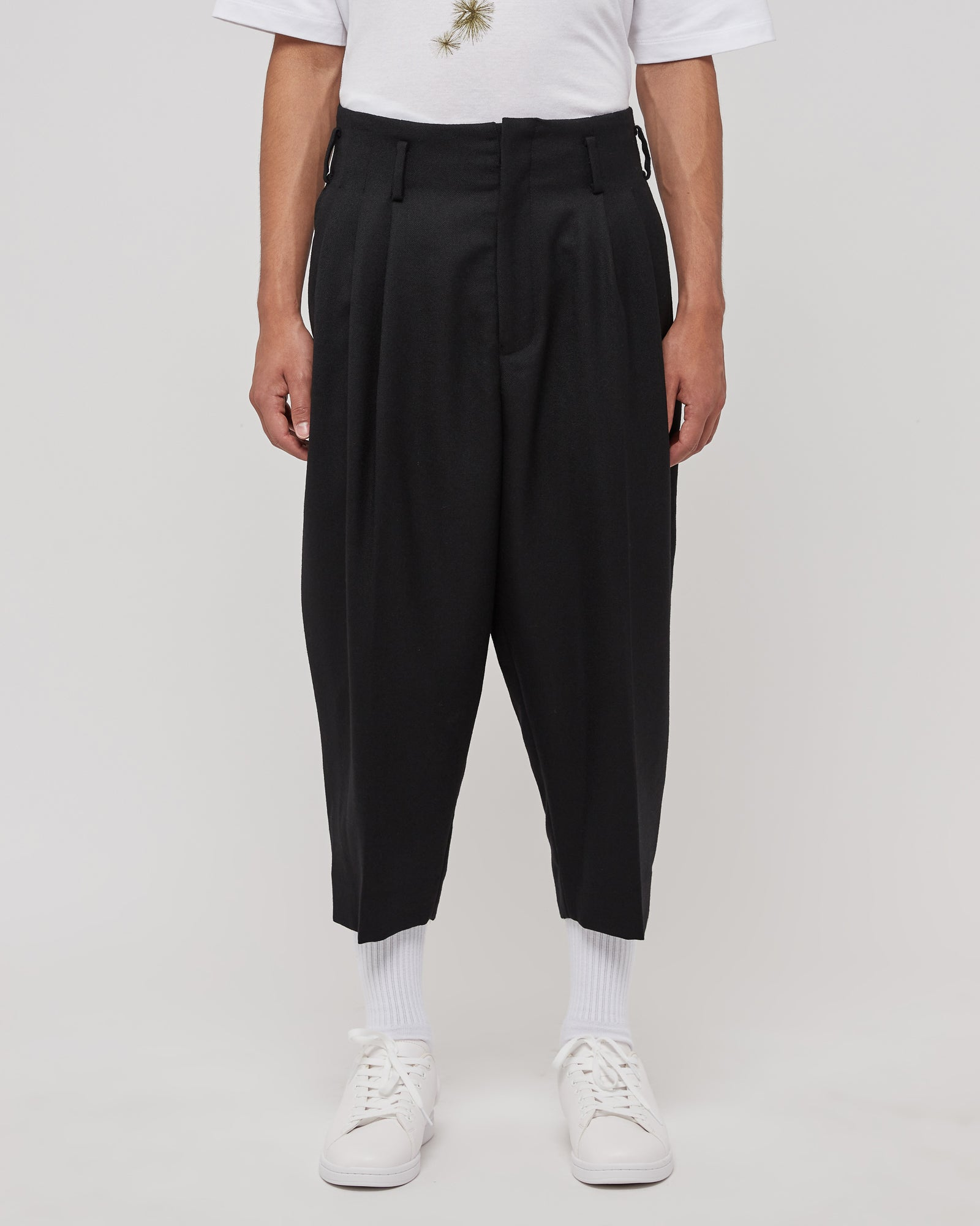 Zip Back Pants in Black