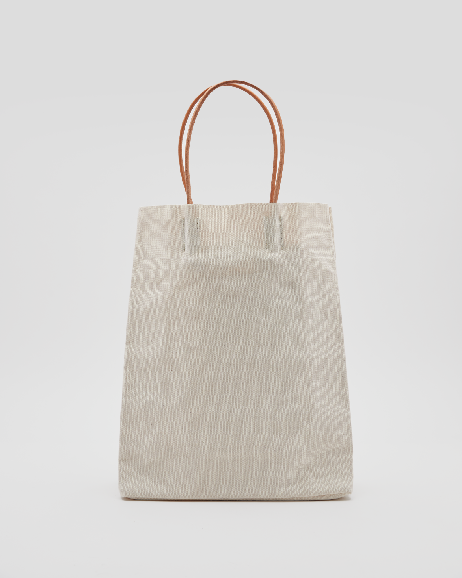 Washed Canvas Paper Bag in White