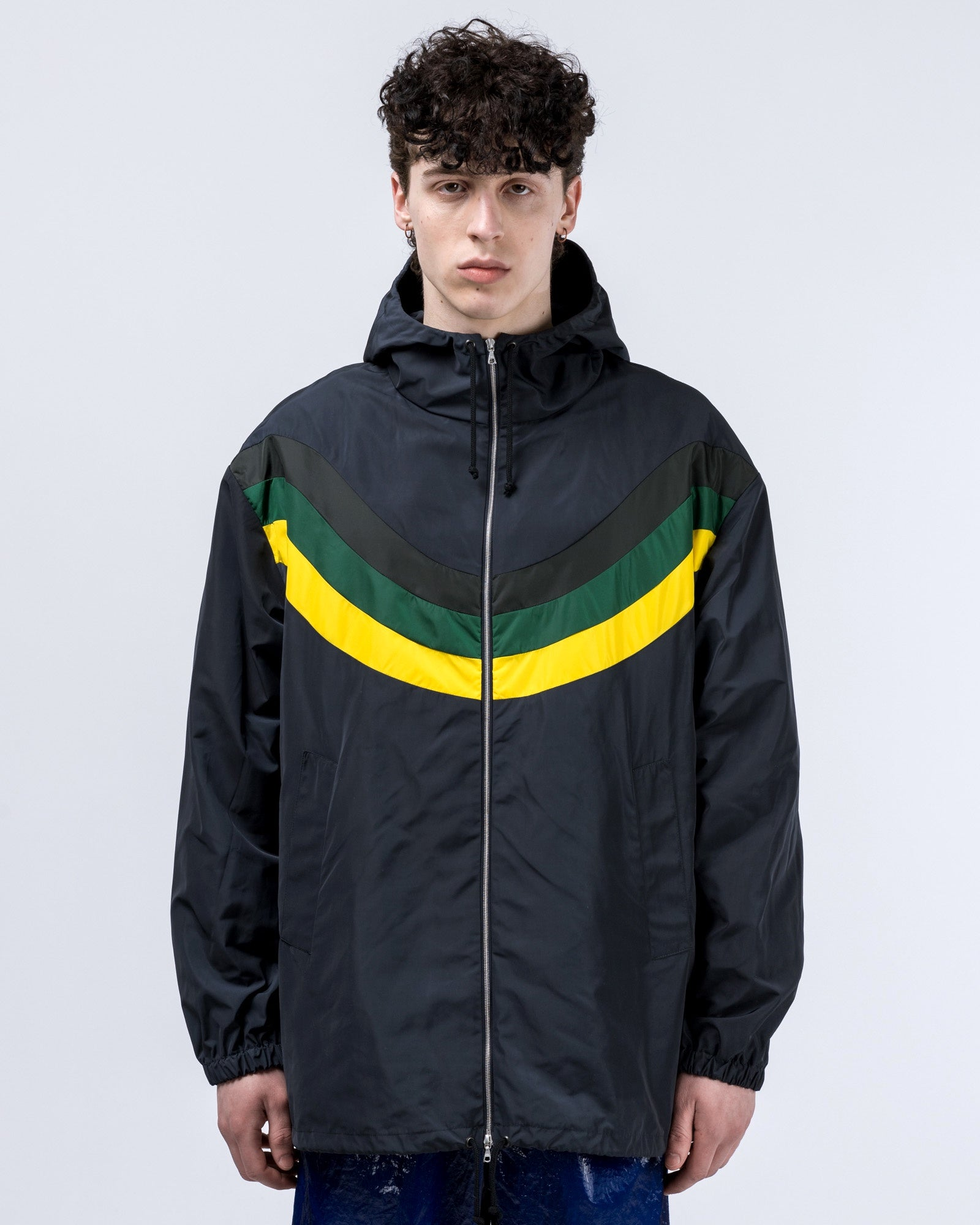 Vence Jacket in Navy / Yellow