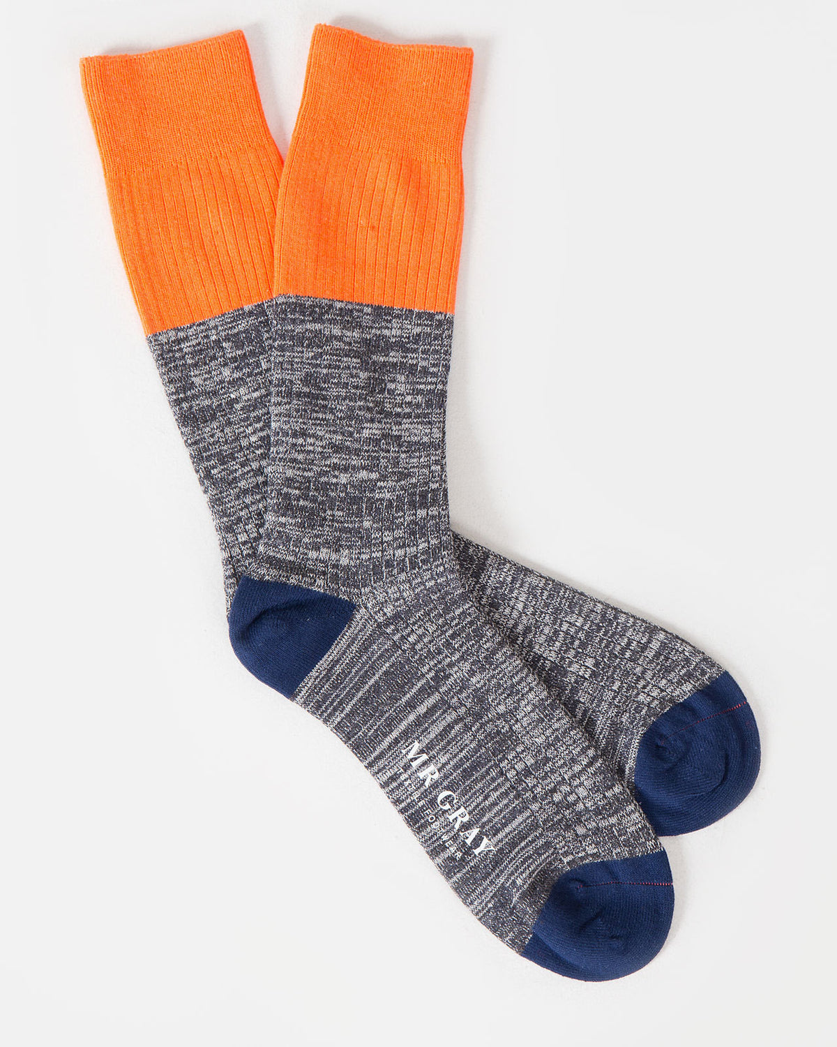Hi Vis Colour Block Sock in Orange