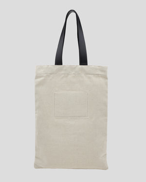 Large Flat Shopper in Natural