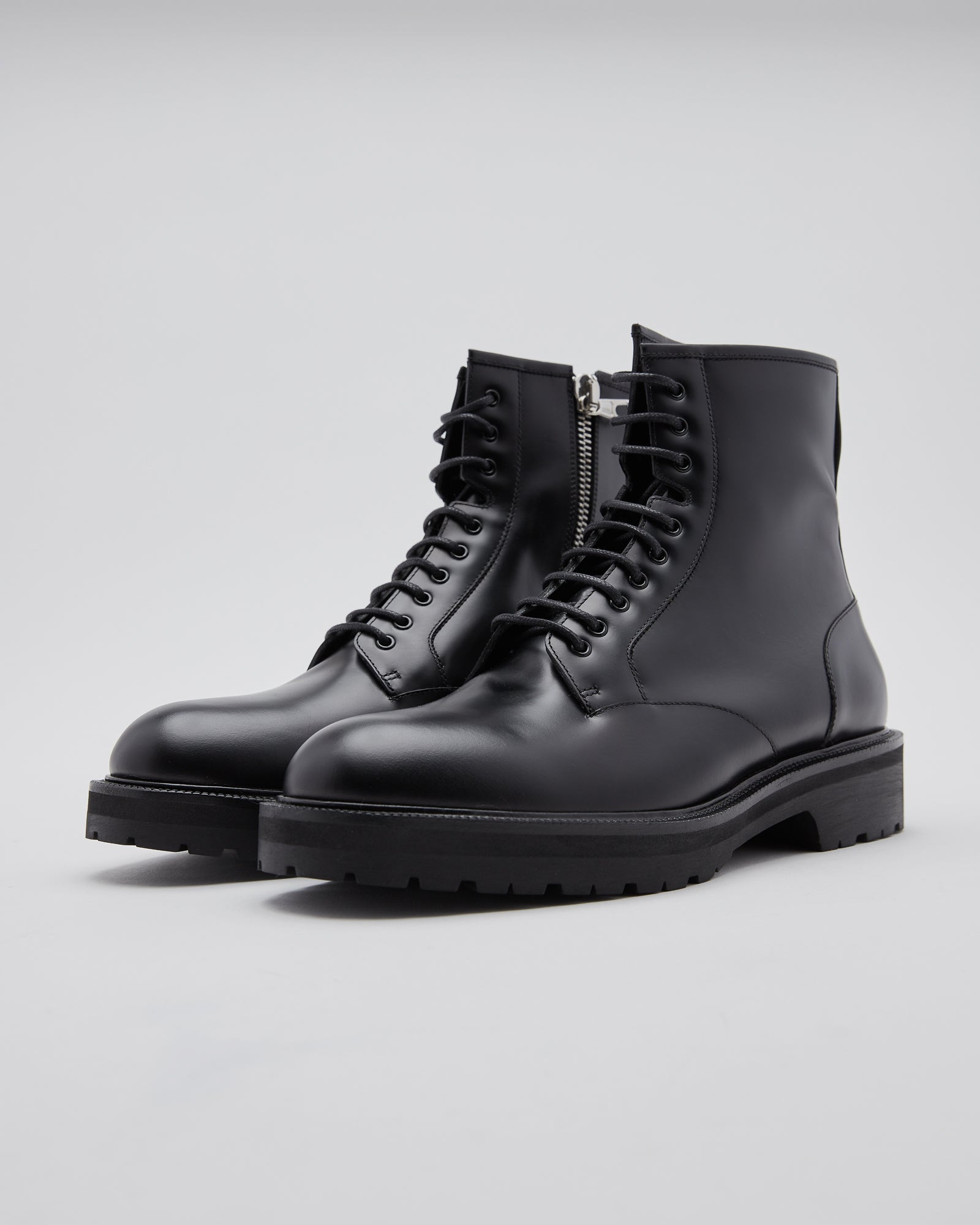 Half Zip Boots in Black
